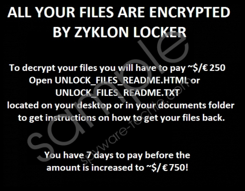 Zyklon Ransomware Removal Guide