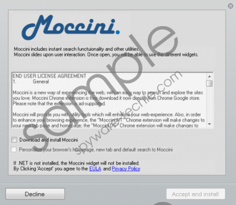 Moccini.com Removal Guide
