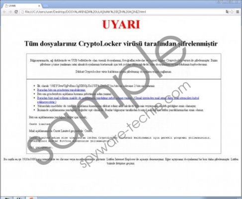 Uyari Ransomware Removal Guide