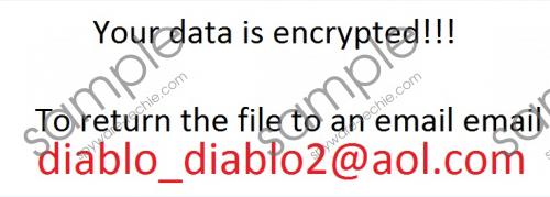 Diablo_diablo2@aol.com Ransomware Removal Guide