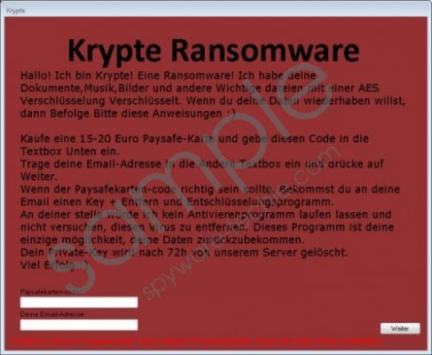 Krypte Ransomware Removal Guide