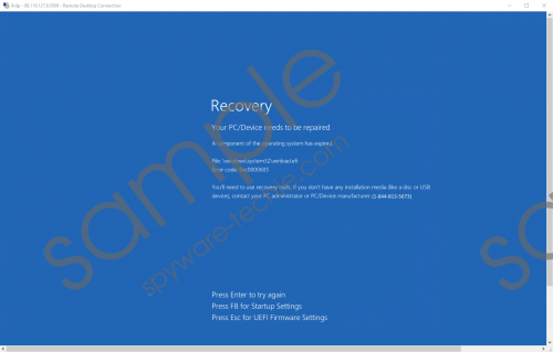 Recovery (1-844-813-5673) Removal Guide