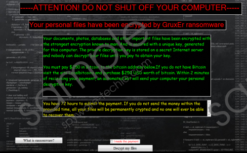 GruxEr Ransomware Removal Guide