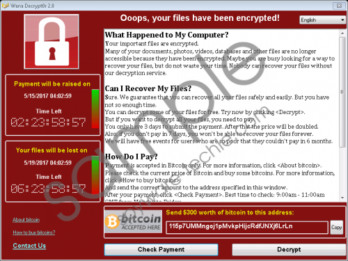 WanaCrypt0r Ransomware Removal Guide