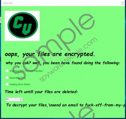 CVLocker Ransomware Removal Guide