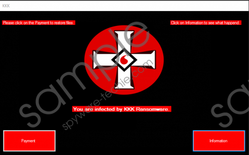 KKK Ransomware Removal Guide