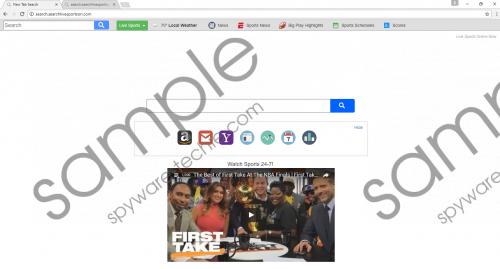Search.searchlivesportson.com Removal Guide