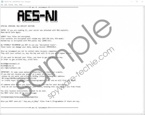 SOREBRECT Ransomware Removal Guide