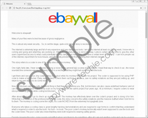 eBayWall Ransomware Removal Guide
