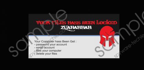 Zuahahhah Ransomware Removal Guide
