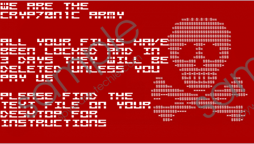Cryp70n1c Ransomware Removal Guide