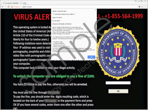 Pegasus Spyware Activated Fake Alert Removal Guide