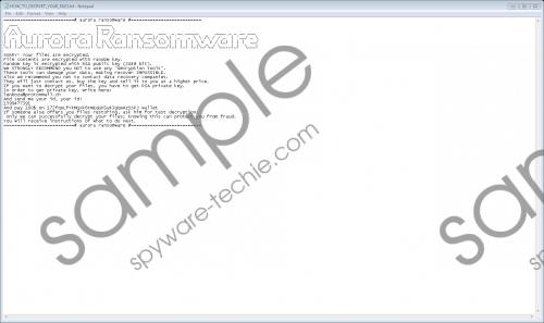 Aurora Ransomware Removal Guide
