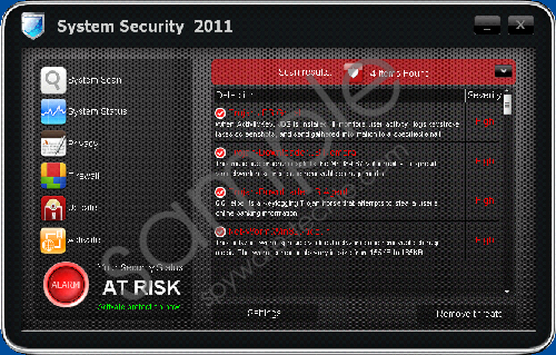 Remove System Security 2011